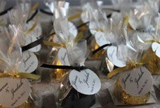 Nope, not bon-bons! wedding favors from Seascape Soap Company