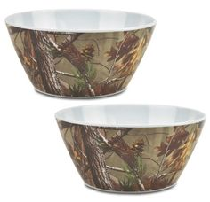 DII Real Tree Melamine Serving Bowl, 10-Inch, Set of 2