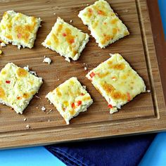 """Cauliflower Squares   """"It can be a pizza crust too. We love this"""""""
