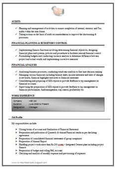 sample resume accounting experience