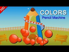 Learn Colors with Fun Pencil Gumball Machine | Learning Colors for Children And Toddlers - YouTube
