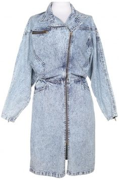 80s Acid Wash Denim Batwing Dress