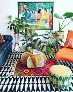 27 Awesome Colorful Apartment Decor Ideas And Remodel For Summer Project. If you are looking for Colorful Apartment Decor Ideas And Remodel For Summer Project, You come to the right place. Décor Boho, Bohemian Living, Bohemian Decor, Hippie Bohemian, French Bohemian, Modern Bohemian, Living Room Designs, Living Room Decor, Bedroom Decor