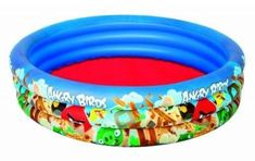 3 Ring Angry Birds Paddling Pool - Bestway Swimming Children Inflatable for sale