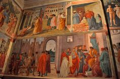 """The Brancacci Chapel, one of Florence's best art gems. Check out these gorgeous frescoes on a Monday from 10am-5pm. The Cappella Brancacci of the Church of Santa Maria del Carmine is a must-see because Masaccio, the """"father"""" of the Renaissance, started frescoing it in 1424… only to die shortly after. Enter Filippino Lippi, who finished the work 66 years later. That means that the frescoes are not only gorgeous, but show two different moments in Renaissance art.  walksofitaly.com"""