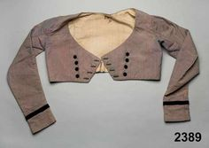 Wool with velvet trim, Swedish (said to have been worn on the third day of…
