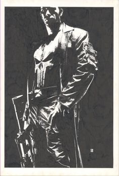 Splash Page Comic Art :: For Sale Artwork :: Punisher One Sheet Movie Poster Art by artist Tim Bradstreet