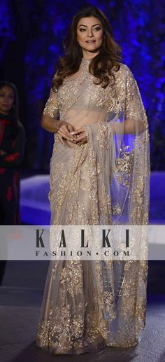 Sushmita Sen in Manish Malhotra Collection at Lakme Fashion Week 2016