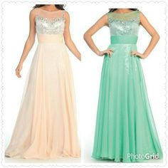 Chiffon/Sequin Long Dress from The BEST OF BOTH WORLDS BOUTIQUE MONOGRAM AND GIFTS for $125.00