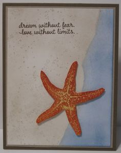 In My Craft Room - Stamping With Glenda: Stampin' Up! Starfish On A Beach card share