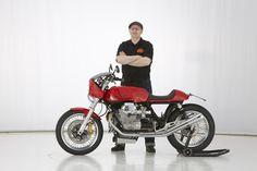Doc Jensen with Moto Guzzi Le Mans Cafe Racer - www.doc-jensen.de