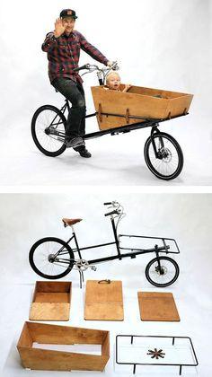 DIY Cargo Bike von Pelago Bicycles rnrnSource by guenterra Retro Rad, Velo Retro, Sidecar, Cool Bicycles, Cool Bikes, Pimp Your Bike, Velo Cargo, Materiel Camping, Bike Trailer