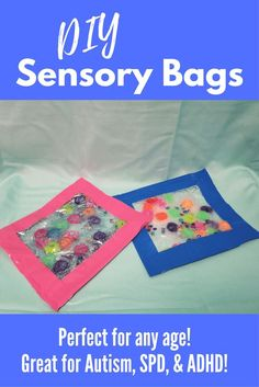 DIY Sensory Bags | Calming Squish bags for Autism, SPD, & ADHD . Simple to make and super affordable!