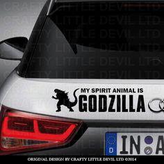 My Spirit Animal is GODZILLA by CraftyLittleDevilLTD on Etsy