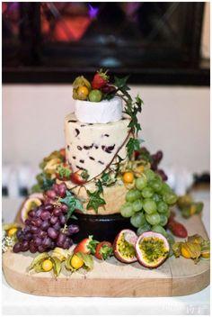 Wedding cake made of Lancashire cheese