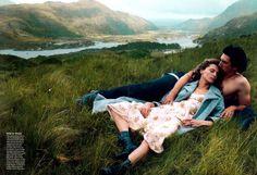 Vogue US Setembro 2013  Daria Werbowy e Adam River por Annie Leibovitz  [Editorial]