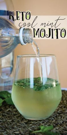 Our Low Carb Mojito uses fresh mint and substitute sweeteners so you can enjoy a drink without derailing your diet!