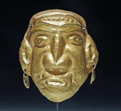 Calima Gold Maskette Warrior Form - Colombia