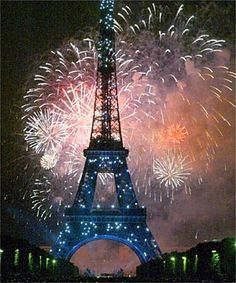 Bastille Day Fireworks in France
