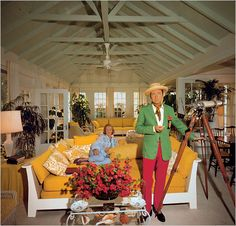 Slim Aarons, love the yellow couch