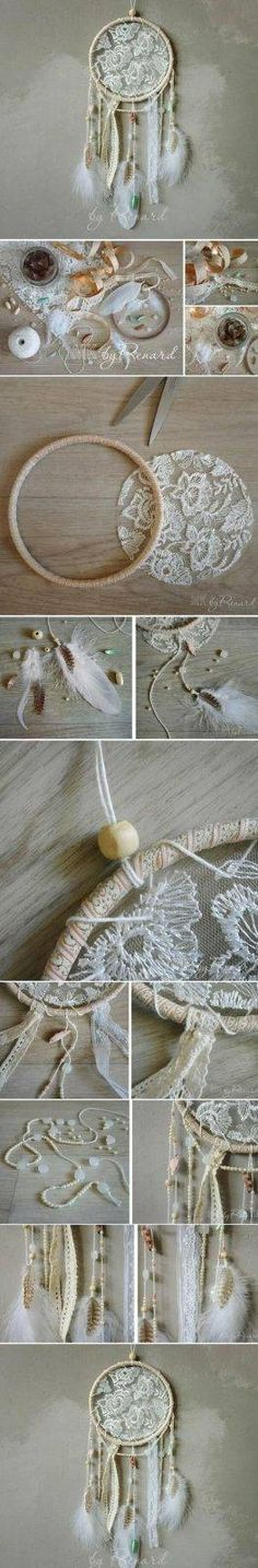 Bastelideen für DIY Geschenke zu Weihnachten, Traumfänger selber basteln