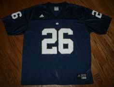 Notre Dame Fightin Irish Football Jersey #26 Adidas Men's Large #adidas #NotreDame
