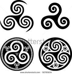 stock vector : Breton black triskels