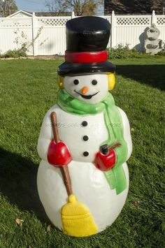 vintage empire plastics 39 tall snowman with carrot nose christmas blow mold