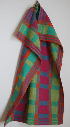 Handwoven Tea or Kitchen Towel Retro Blocks by HandwovenHome, $34.00