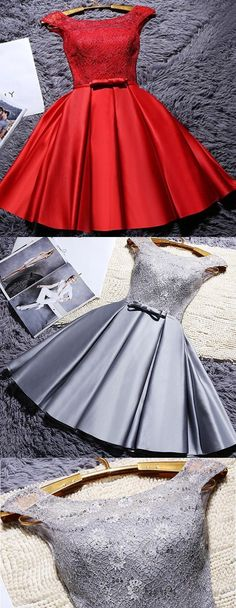 Cap Sleeve Prom Dresses, Grey Cap Sleeve Homecoming Dresses, Short Homecoming Dresses, 2017 Homecoming Dress Chic A-line Lace Short Prom Dress Party Dress Homecoming Dresses 2017, Cheap Short Prom Dresses, Cheap Homecoming Dresses, Prom Dresses With Sleeves, A Line Prom Dresses, Beautiful Prom Dresses, Sleeve Dresses, Grey Party Dresses, Grey Prom Dress