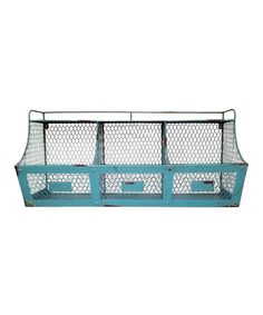 Loving this Metal Bin Shelf on #zulily! #zulilyfinds