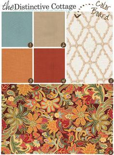 Cottage Style Farmhouse   Color Board   Distinctive Cottage