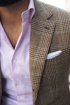 jacket, shirt and pocket square combination