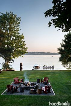 Just looking at the incredible view in Thom Filicia's yard puts you in a more relaxing frame of mind. See the rest of Filicia's upstate New York home »