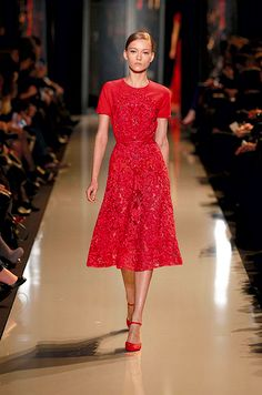 ELIE SAAB Haute Couture Spring Summer 2013  Short red cocktail dress