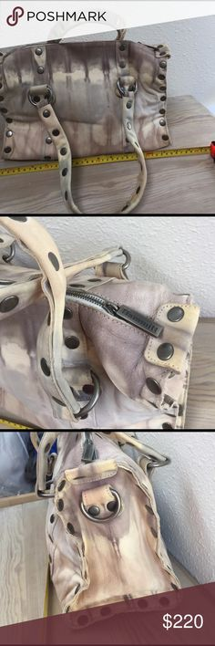 Hammitt Los Angeles leather tie dye bag/purse Hammitt Los Angeles leather tie dye bag/purse, soft leather but tough, creams & gray colors, great condition, maybe a few leather marks hammitt Bags Satchels