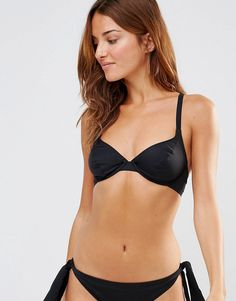Image 1 of Pour Moi Black Multiway Underwired Bikini Top