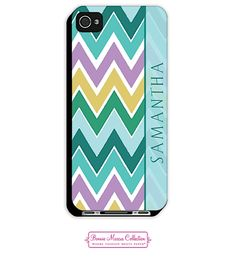 Bonnie Marcus - phone | iPhone 4/4S Cases | Blue Chevron iPhone Case 2D