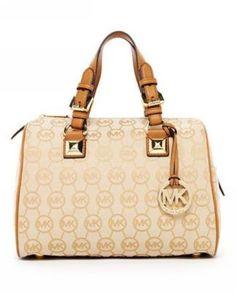 Michael Kors Grayson Monogram Medium Satchel Beige Camel! Only  123.1USD Michael  Kors Handbags Sale 0ef1fcb28de5e