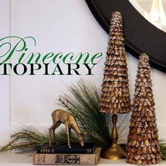 Pinecone Topiary DIY {Holiday DIY Decorations}