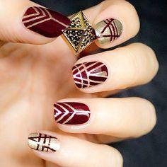 The perfect metallic nail for the festive holiday season.