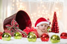 Baby Christmas photo. Using target deco. Serving Los Angeles area and Orange County. Check out my Facebook @ Sosaphotography@yahoo.com 7 months old