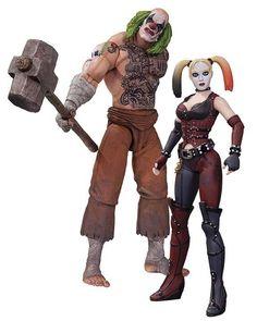 Batman Arkham City Action Figure 2-Pack Mr. Hammer & Harley Quinn - The Movie Store
