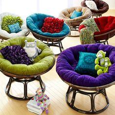 Merveilleux Fun Coloured Circle Chairs  Pier One