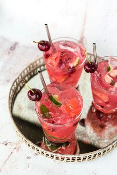 Cherry Caipirinha