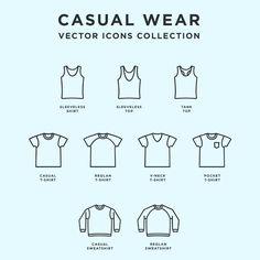 Casual Wear: Free Vector Icons Icons Clothes Clothing EPS Free Graphic Design Icon Outline Resource Vector Wearable