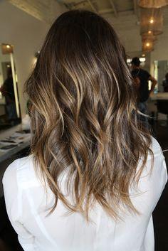 brunette highlights - great hair blog