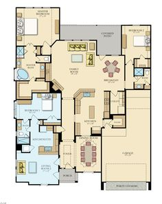 Coral 553N New Home Plan in Canyon Lakes West: Brookstone Collection by Lennar