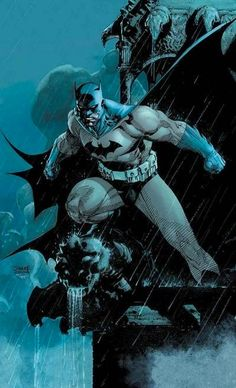 One of my favorite DC characters (Batman) drawn by one of my favorite artists (Jim Lee)