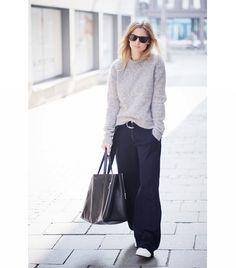 Mija On Mija: Acne sweater; Zara pants; Celine bag; Adidas shoes.